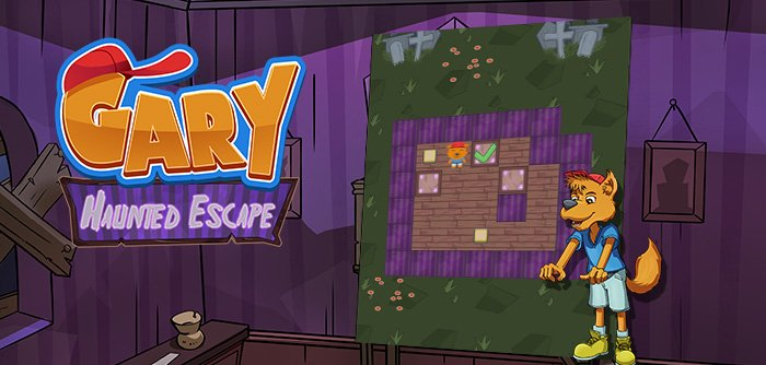 Gary has to escape a haunted ZooValley house! Help him out by pushing the blocks!