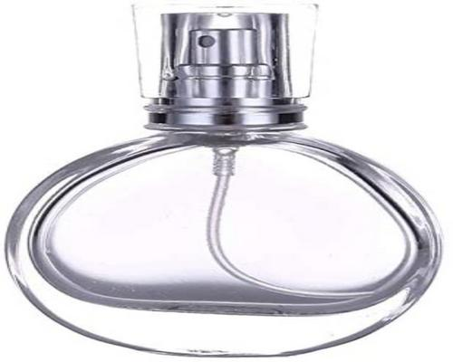 un Flacon Rond Transparent De En Verre 30 Ml