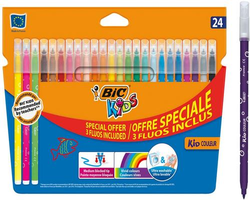 un Stylo Bic Kids Kid Couleur S De Coloriage À Pointe Moyenne