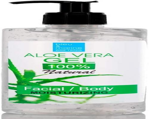 un Gel 100% Natural D'Aloe Vera 500 Ml Excellent Hydratant Visage & Corps Cheveux