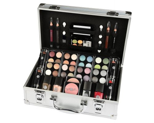 A 51 Piece Aluminum Malette Makeup Set