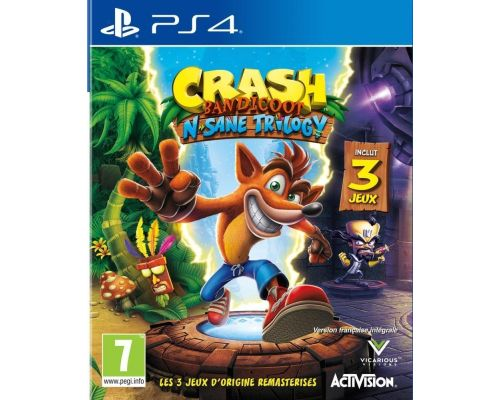 Un Jeu PS4 Crash Bandicoot N sane trilogy