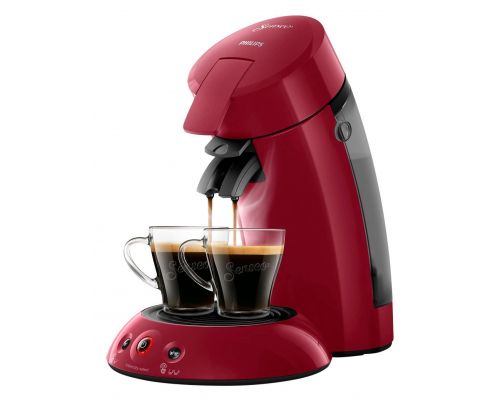 Une Machine a Cafe a Dosettes Senseo Rouge