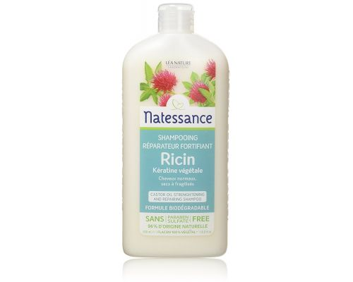A Shampoo with Castor Oil and Keratine Vegetable Capillary Natessance