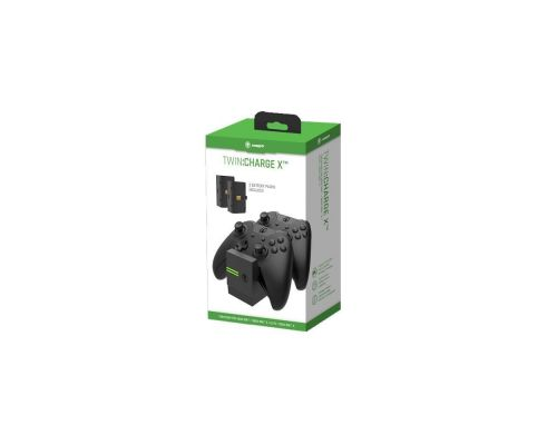 Une Station de Charge Twin Charge X 2 Manettes Xbox One - Noire