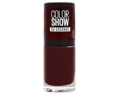 Colorshow Gemey-Maybelline Dark Red Nail Polish
