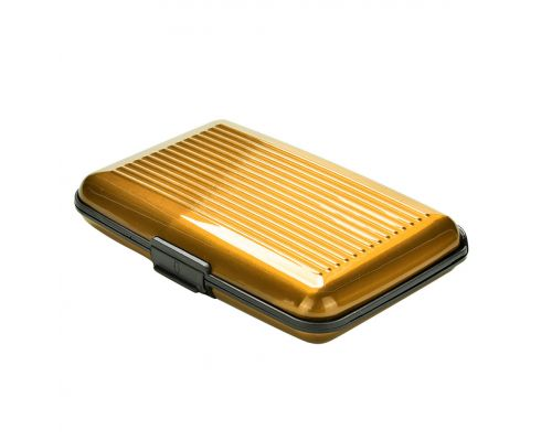 a Gold Color Aluminum Card Holder