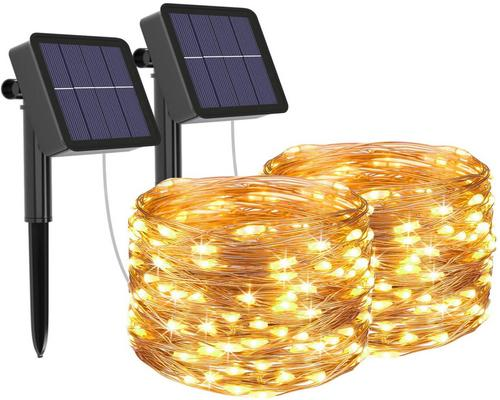 a Garland Lot Of 2] Solar Outdoor Garland