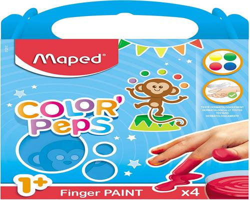 a Set Of Maped Color'Peps 4 Pots For Baby And Child From 1 Year