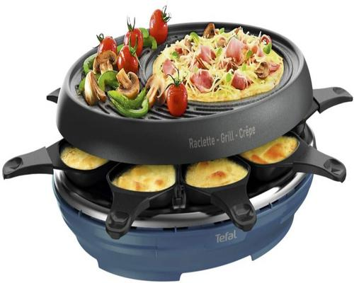a Raclette Tefal Colormania 3 In 1 Grill And Crepe Appliance