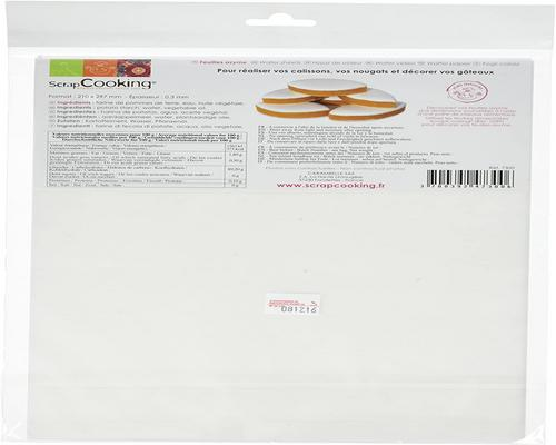 a Scrapcooking Stencil 6 Wafer Sheets 50 G