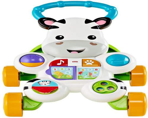 a Fisher-Price My French Speaking Zebra Trotter To Learn To Walk