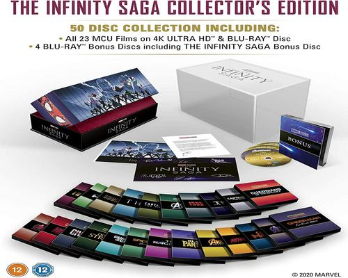 a Dvd Marvel Studios: The Infinity Saga - Collector'S Edition Complete Box Set Uhd [Blu-Ray] [2020] [Region Free]