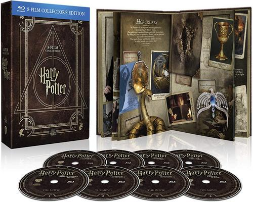 uno Film Harry Potter Magical Collection (8 Blu Ray) - Cofanetto Con Copertina In Similpelle, Edizione Digibook (32 Pagine)