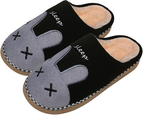 A Pair Of Mishansha Slippers Men Women Winter Slippers Cotton Plush Warm Soft Indoor Cute Home Slippers