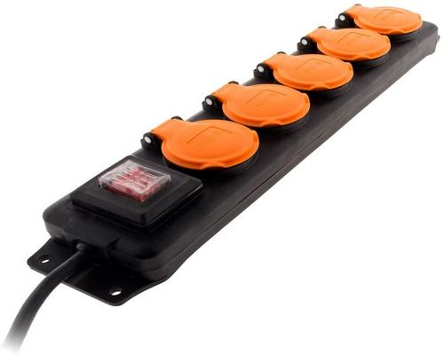 a Power Strip Block Ip44 5 Sockets 16A 2P + E With Valves And Switch