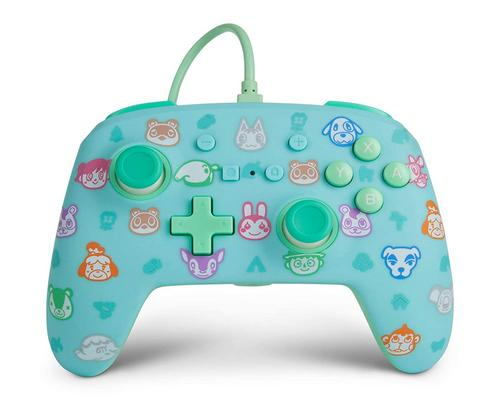 a Set Of Accessory Powera Enhanced Wired Controller For Nintendo Switch - Animal Crossing, Gamepad, Wired Video Game Controller, Gaming Controller - Nintendo Switch