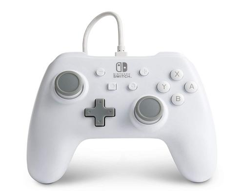 a Set Of Accessory Powera Wired Controller For Nintendo Switch - White, Gamepad, Wired Video Game Controller, Gaming Controller - Nintendo Switch