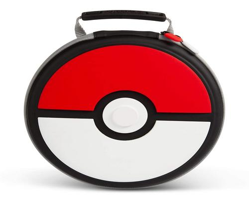 a Set Of Accessory Powera Pokemon Carrying Case For Nintendo Switch Or Nintendo Switch Lite - Poke Ball, Protective Case, Gaming Case, Console Case, Round - Nintendo Swi