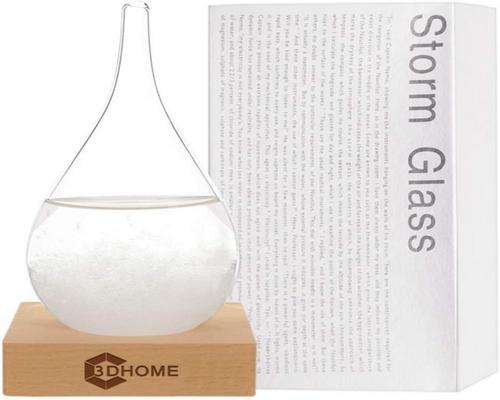 en 3Dhome Storm Glass Weather Water Drop Weather Predictor Creative Prognose Nordisk stil Dekorativ Weather Glass Station