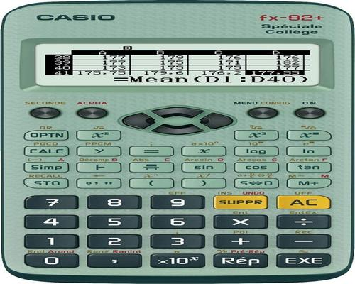 a Casio Fx-92 + Calculator