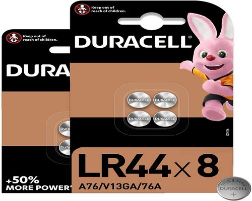 One Duracell Lr44 1.5V Alkaline Button Battery