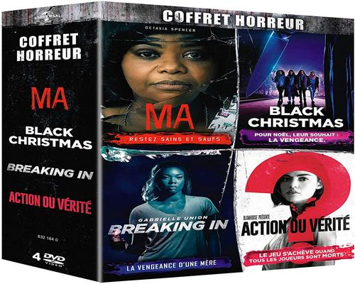 un Film Coffret Horreur : Ma + Black Christmas + Breaking In + Action Ou Vérité