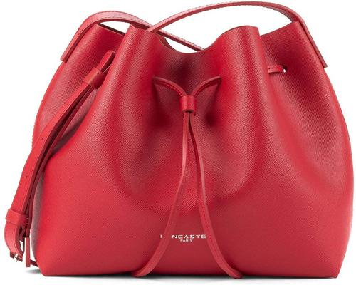 a Lancaster Small Bucket Bag Red