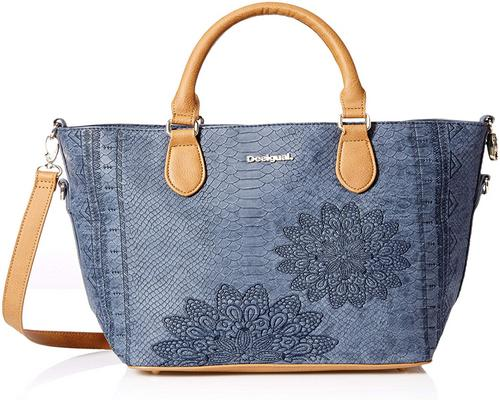 a Desigual Bag Aquiles Florida Female Blue