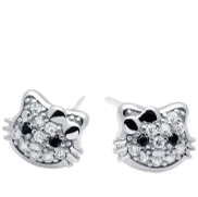 <notranslate>A Pair Of Baobei Hello Kitty Cat Earrings For Women Sterling Silver Cute Cat Love Gift For Women Girls Kids With Box</notranslate>