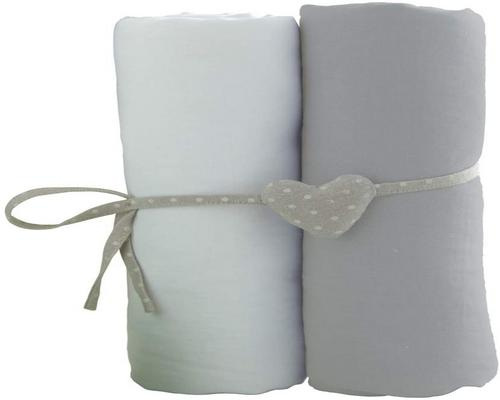 a Sheet Set Of 2 White / Babycaline Gray