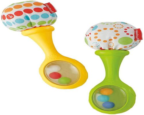 a Fisher-Price Rattle My First Musical Maracas
