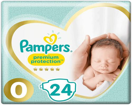 a Pampers Premium Size 0 Diaper