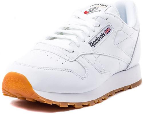 a Pair Of Reebok Classic Leather Sneakers