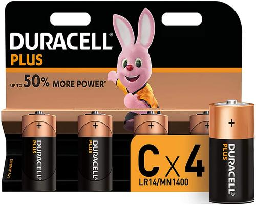 a Duracell Plus Battery