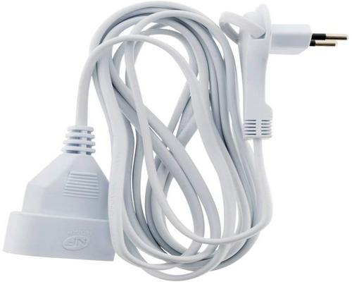 an Extension Cord Without Earth With Extraflat Plug 2X 0.75 White 3M