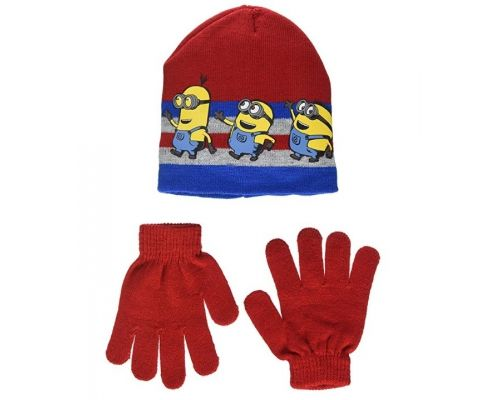 A Set of Minion Hat and Gloves