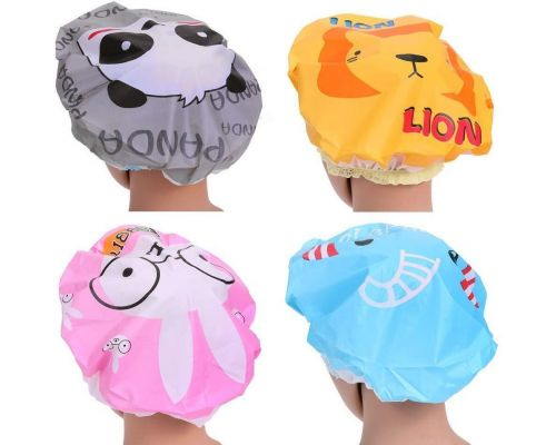 Un Lot de 2 Bonnets de douche Motif Animaux