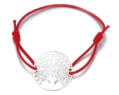A Red Cord Bracelet Tree of Life