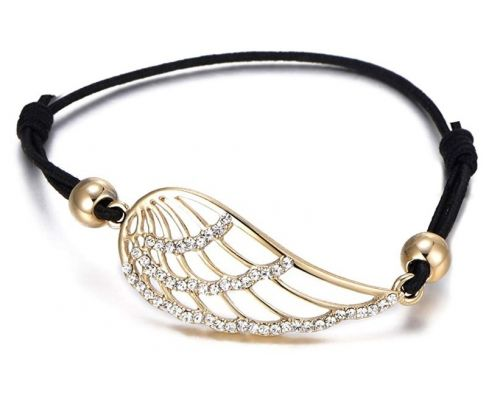 An Angel Wing cord bracelet