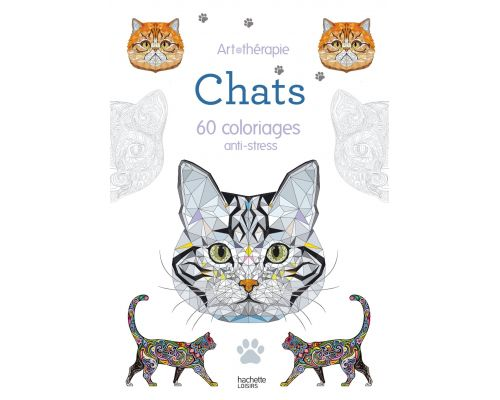 A Cats Notebook: 60 anti-stress kleurplaten