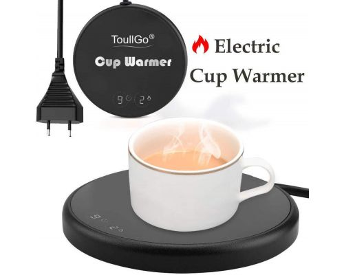 An electric cup warmer