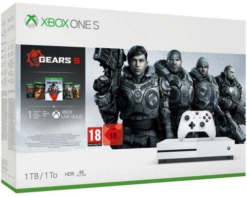 Une Console Xbox One S avec Gears 5