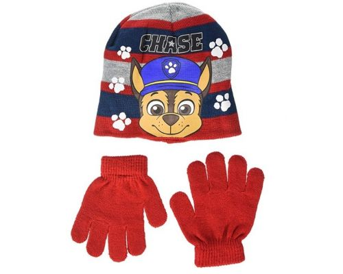 A Set of Paw Patrol Chase Hat and Gloves