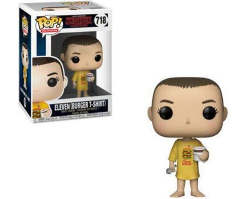 Une Figurine Pop Stranger Things: Eleven in Burger Tee