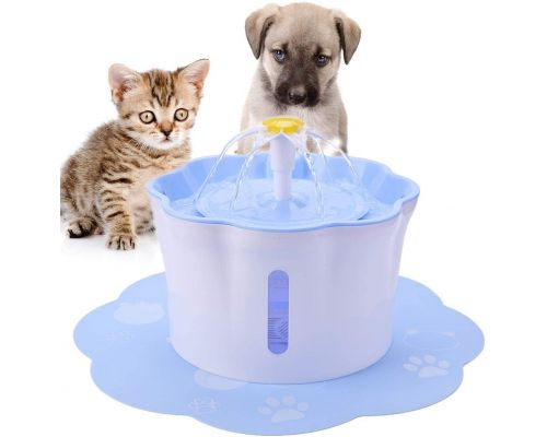 A Water Fountain + Mat for Cat and Dog