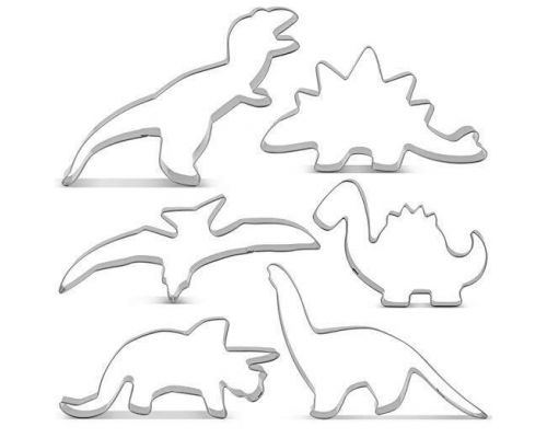 En Dinosaur Cookie Cutter Kit