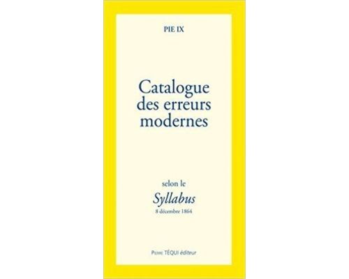 A book Catalog of modern errors