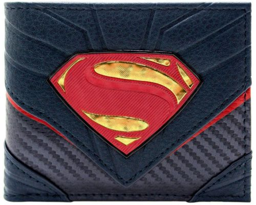 Un Portefeuille DC Comics Superman Carbone