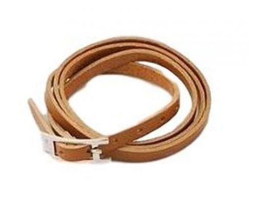 an ICandy Twist Brown Belt Bracelet